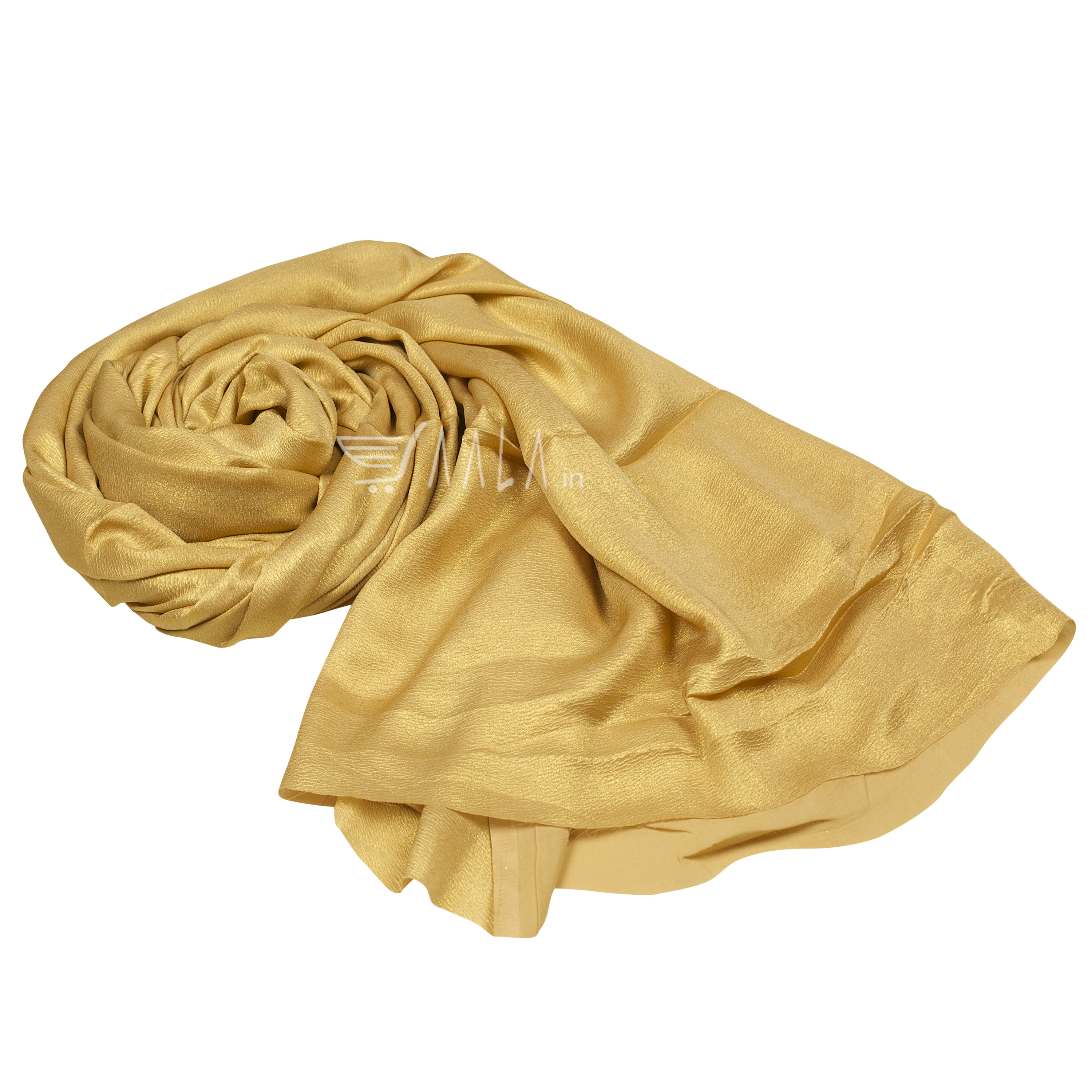 Foil Crush Satin Georgette Poly-ester 44 Inches Dyed Per Metre #1945
