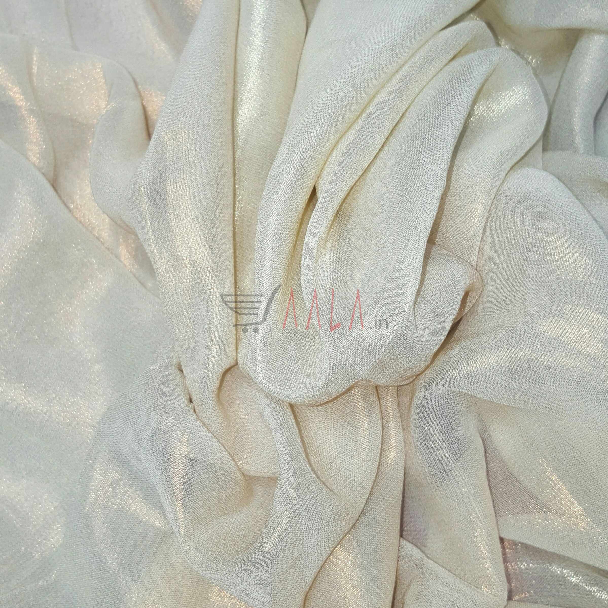 Two Tone Foil Print Georgette Viscose 44 Inches Dyeable Per Metre #2042