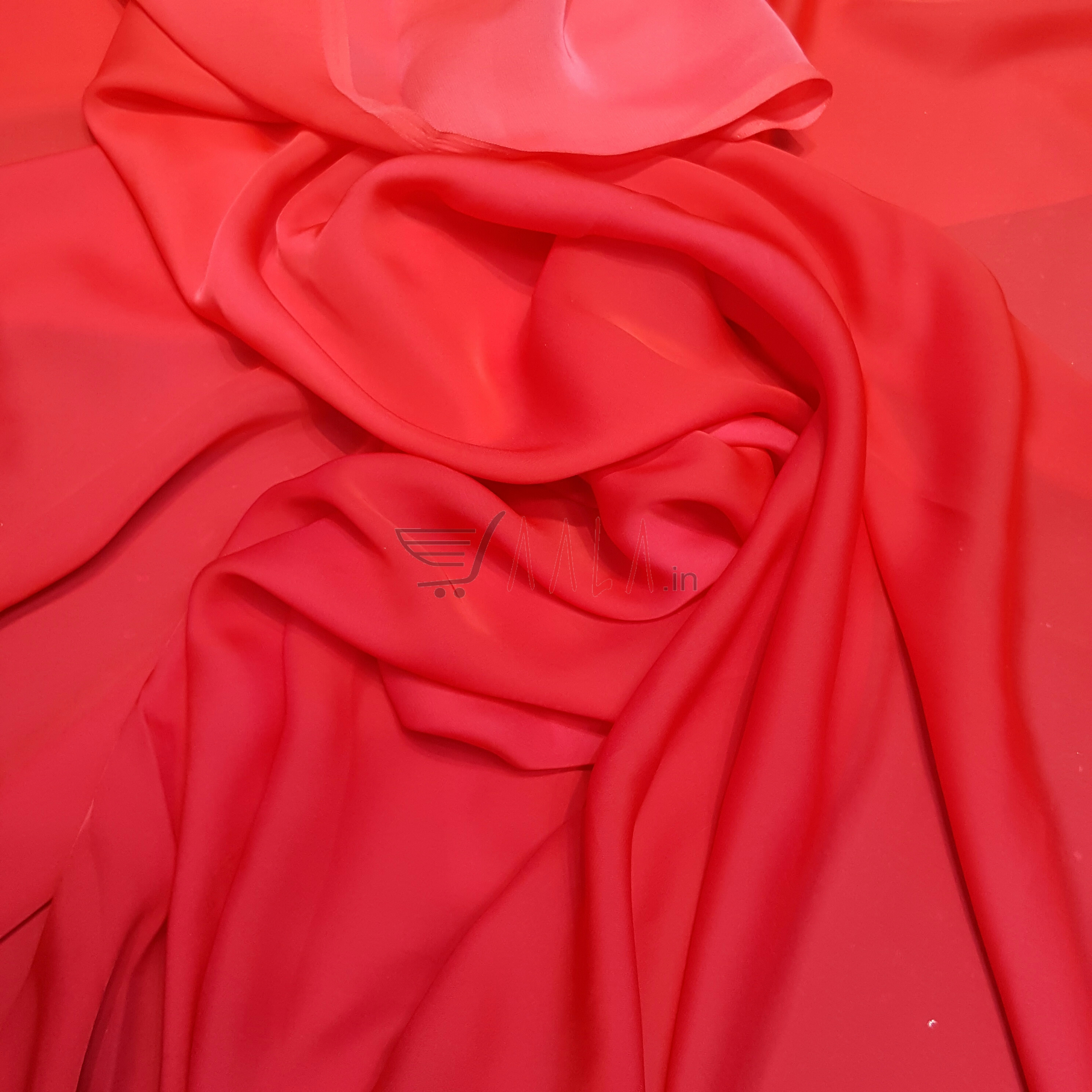 Two Tone Flat Chiffon Poly-ester 44 Inches Dyed Per Metre #2052