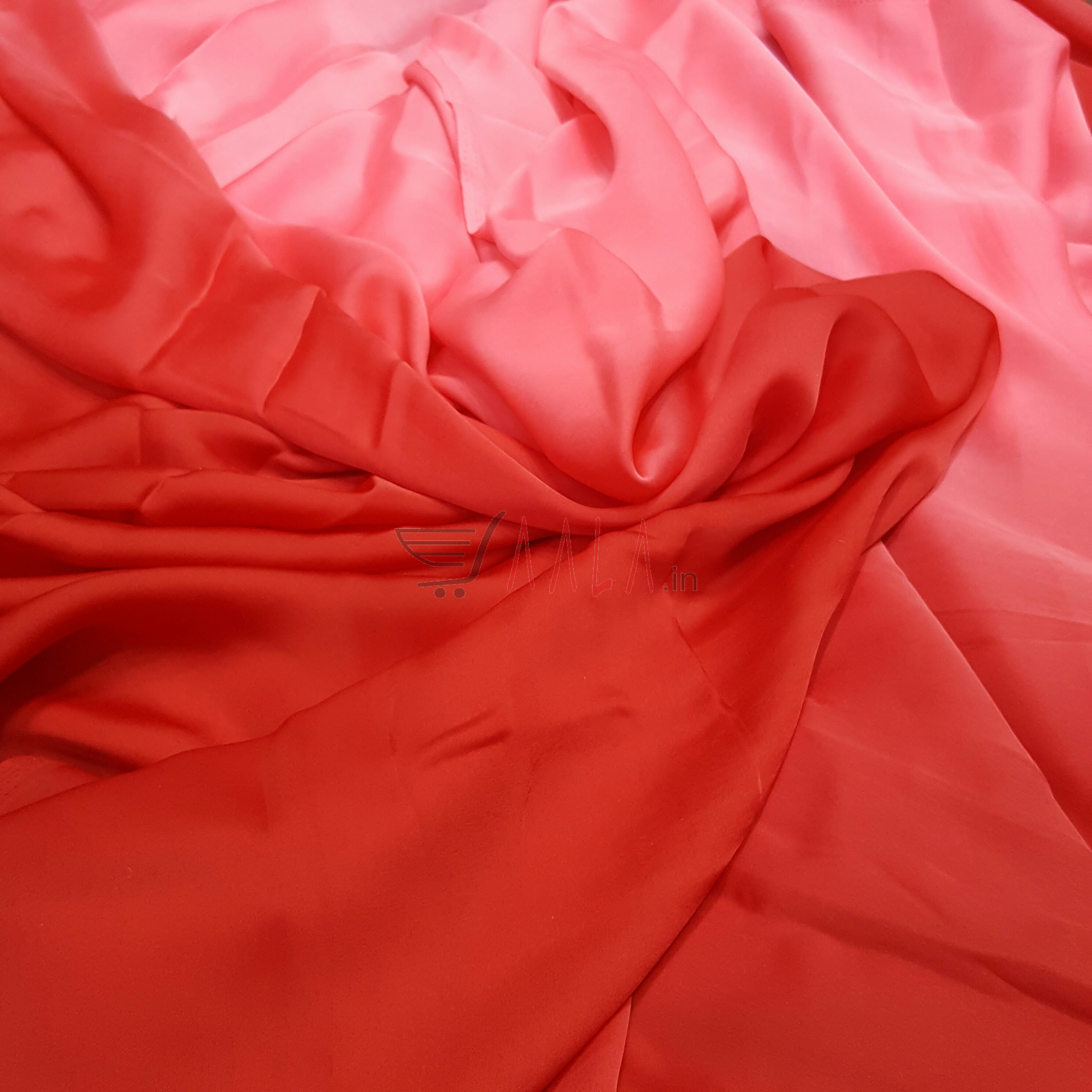 Shaded Satin Georgette Poly-ester 44 Inches Dyed Per Metre #2056