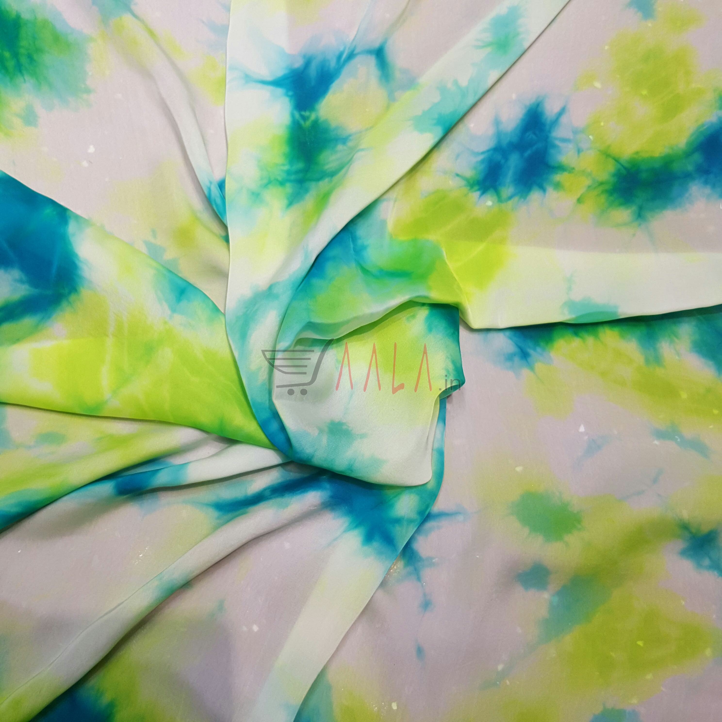 Shaded Satin Georgette Poly-ester 44 Inches Dyed Per Metre #2075