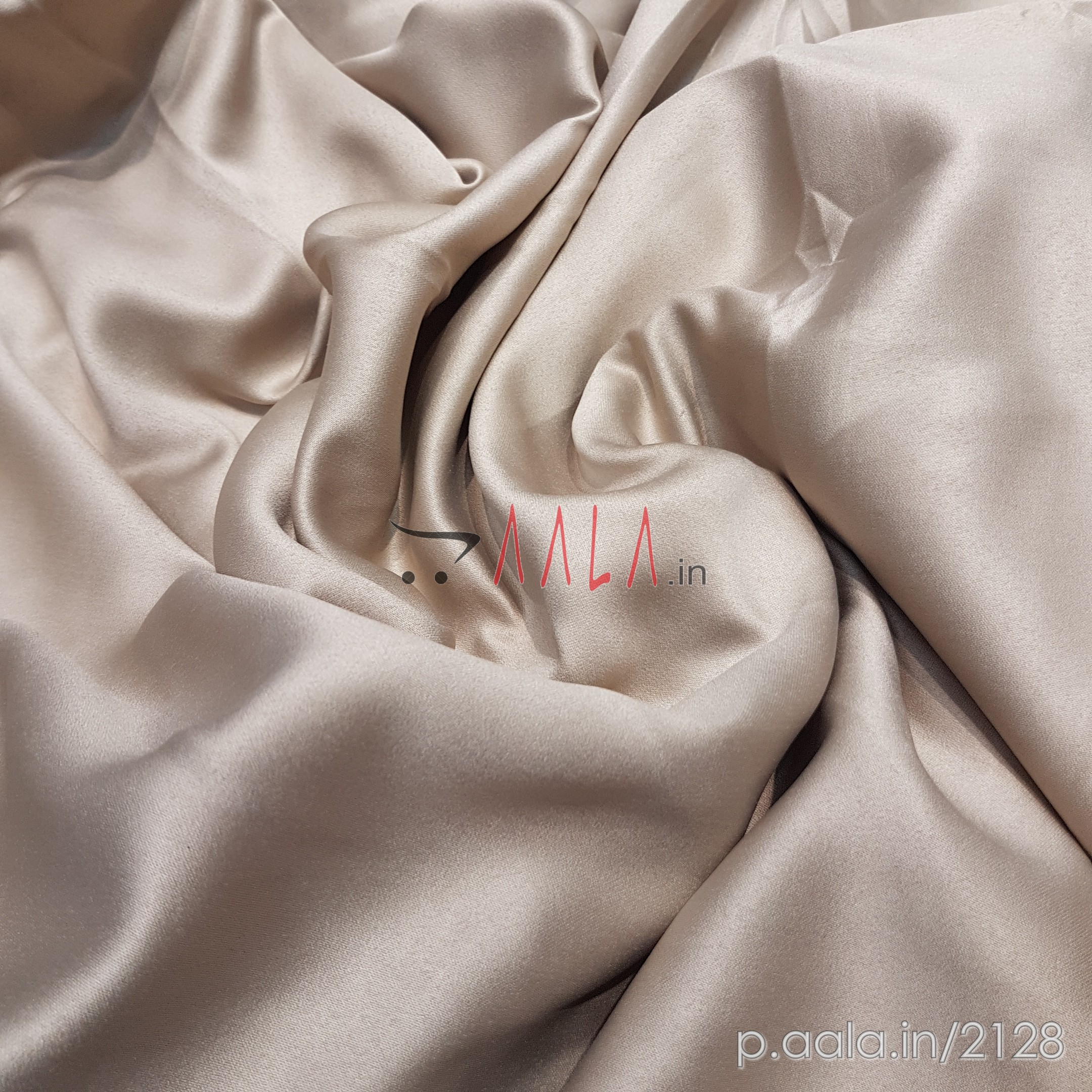 See Satin Poly-ester 44 Inches Dyed Per Metre #2128