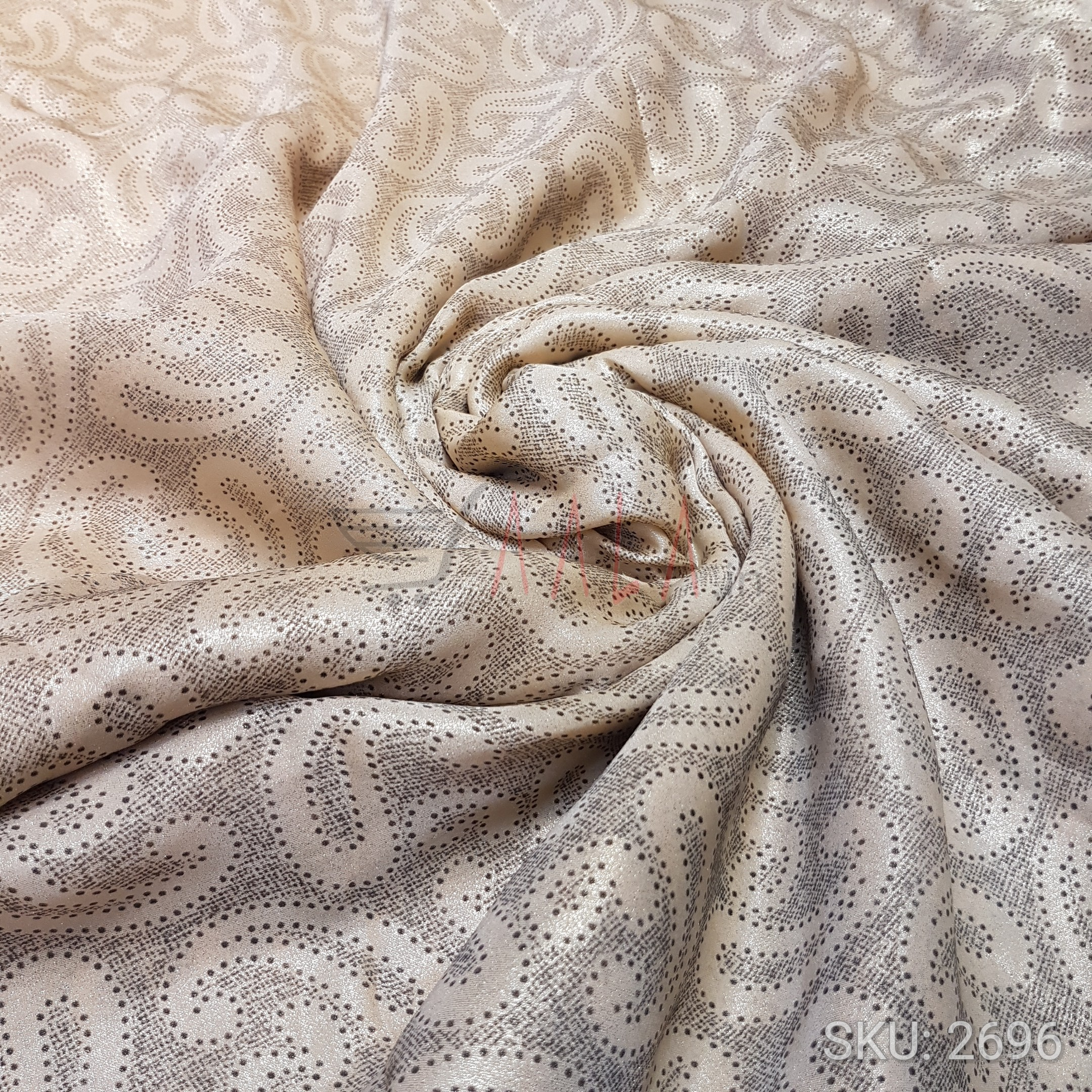 Crazy Satin Georgette Poly-ester 44 Inches Dyed Per Metre #2696