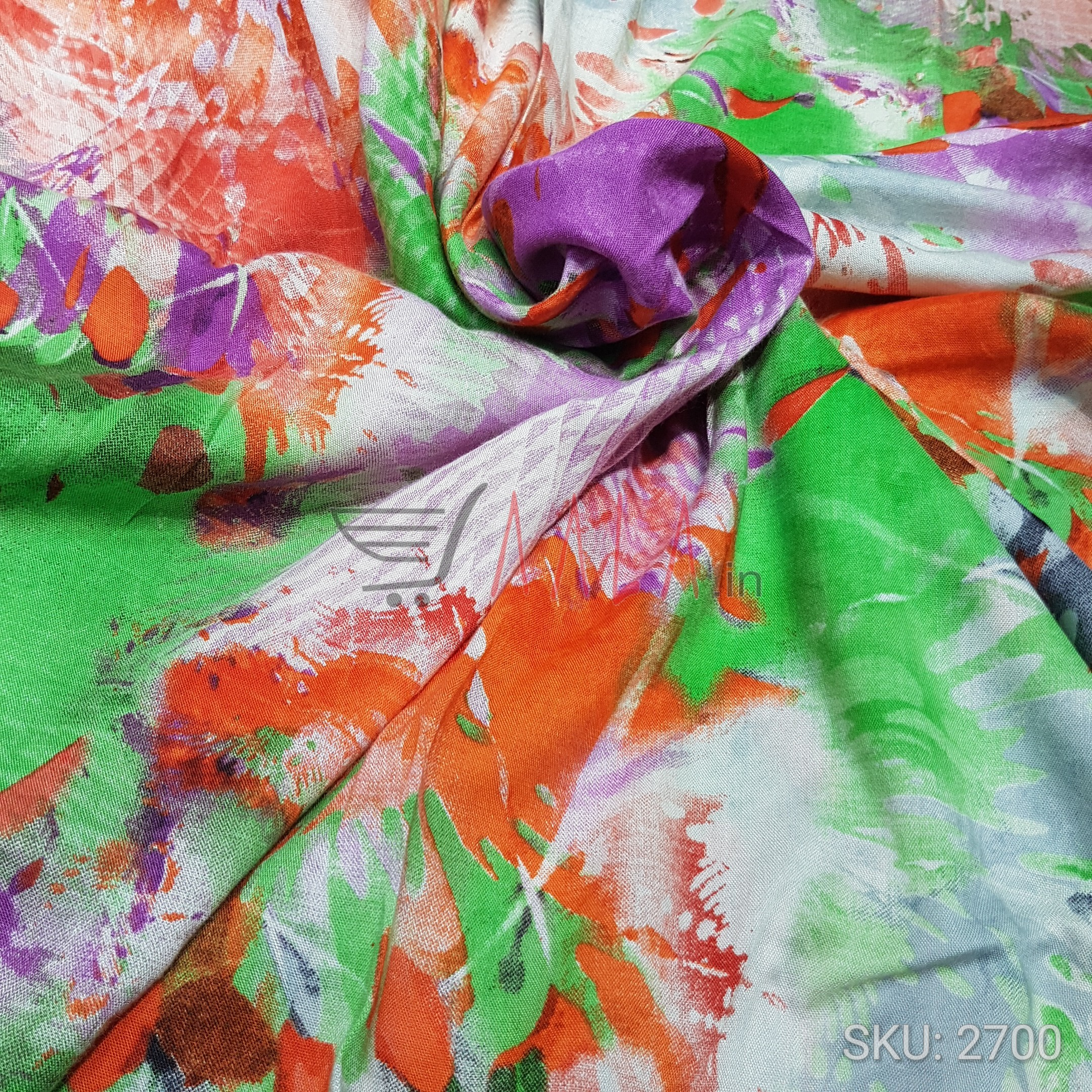 Printed Rayon Cotton 44 Inches Per Metre #2700