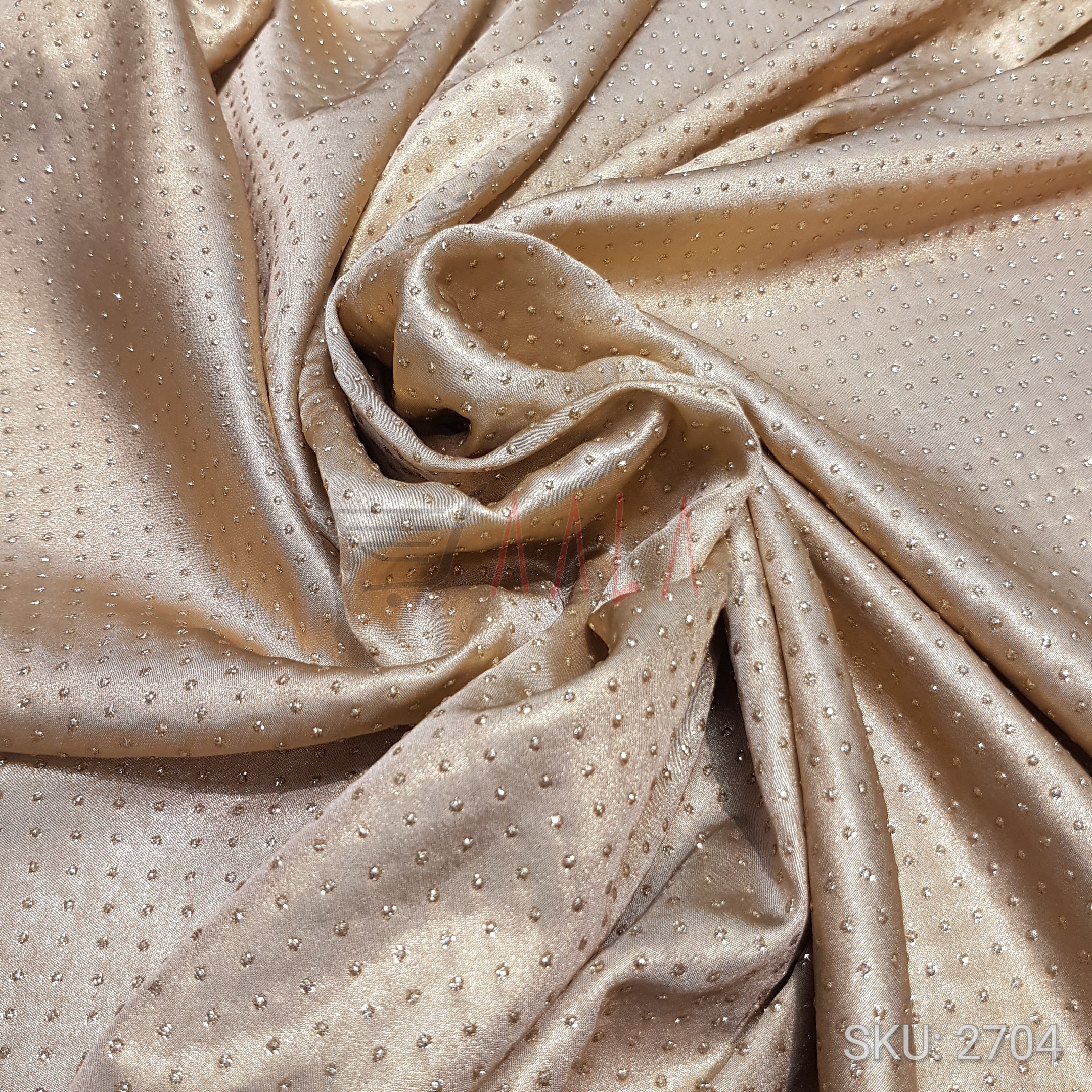 Dew Drop Satin Georgette Poly-ester 44 Inches Dyed Per Metre #2704
