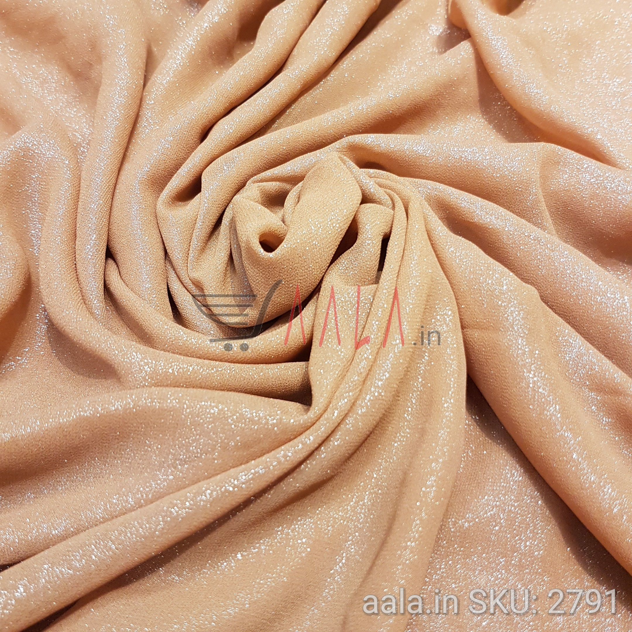 Foil Georgette Poly-ester 44 Inches Dyed Per Metre #2791