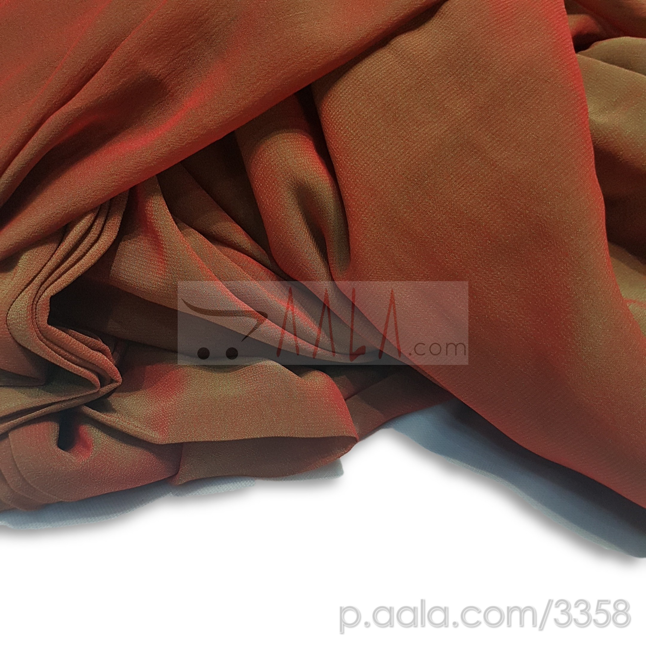 PT Two Tone Georgette Poly-ester 44 Inches Dyed Per Metre #3358