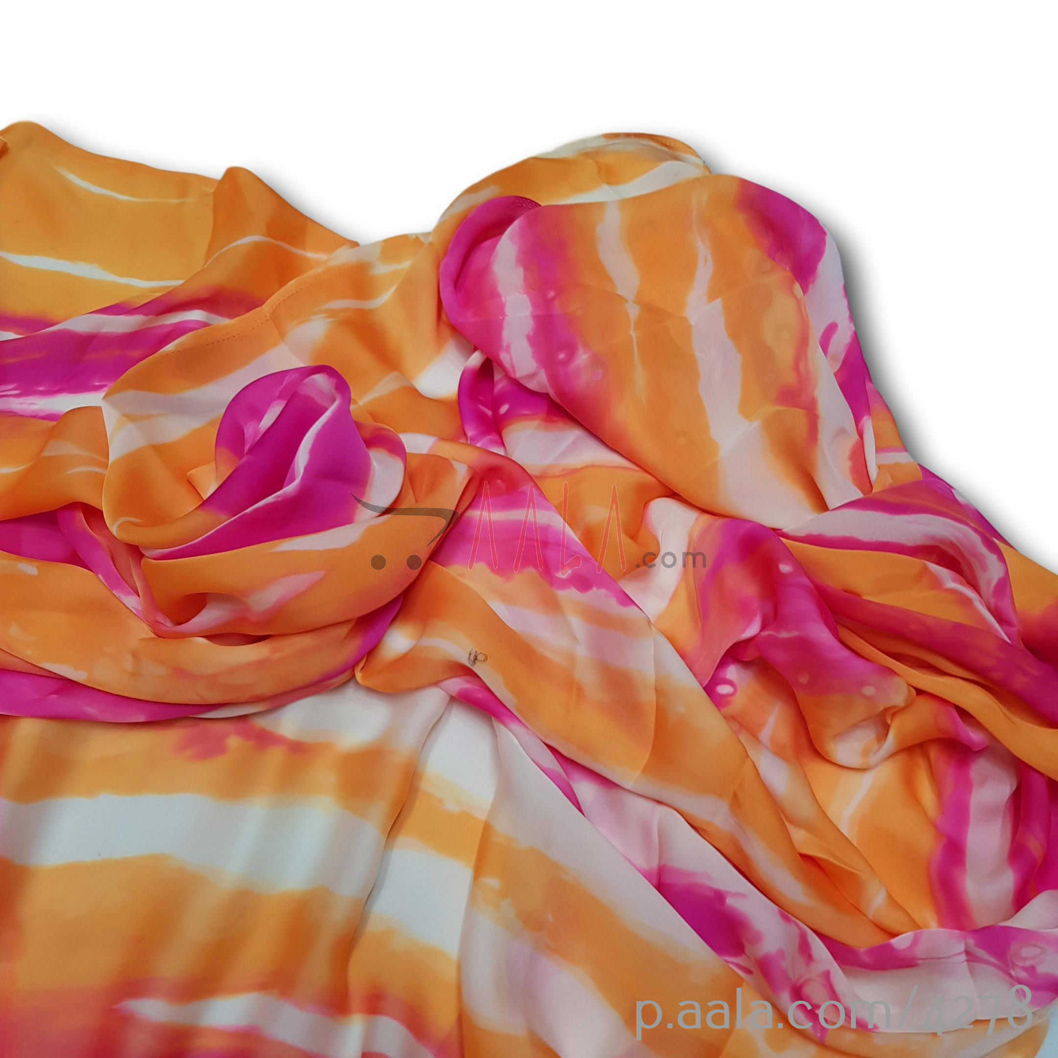 Rainbow Satin Georgette Poly-ester 44 Inches Dyed Per Metre #4278