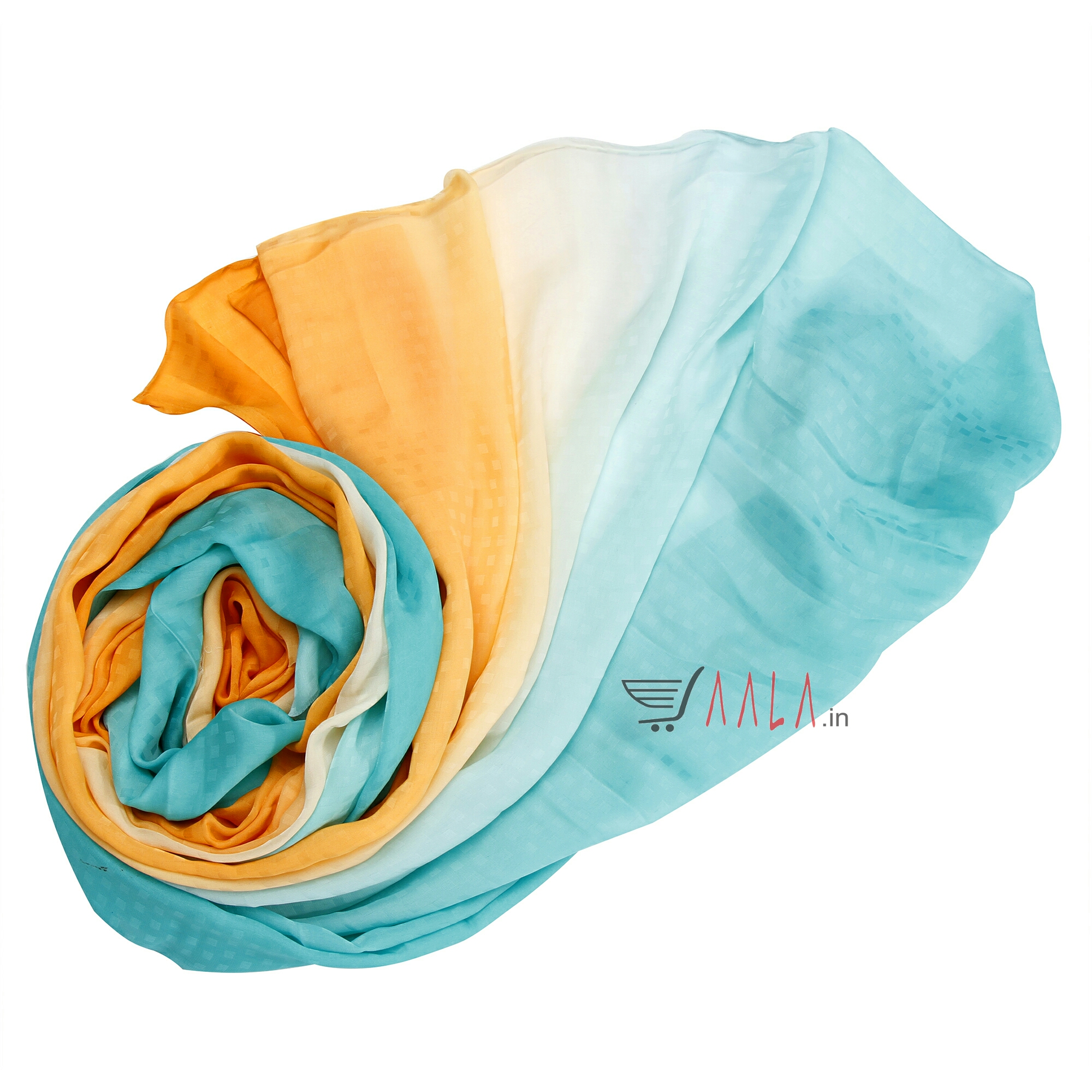 Zoya Shaded Satin Georgette Poly-ester 44 Inches Dyed Per Metre #755