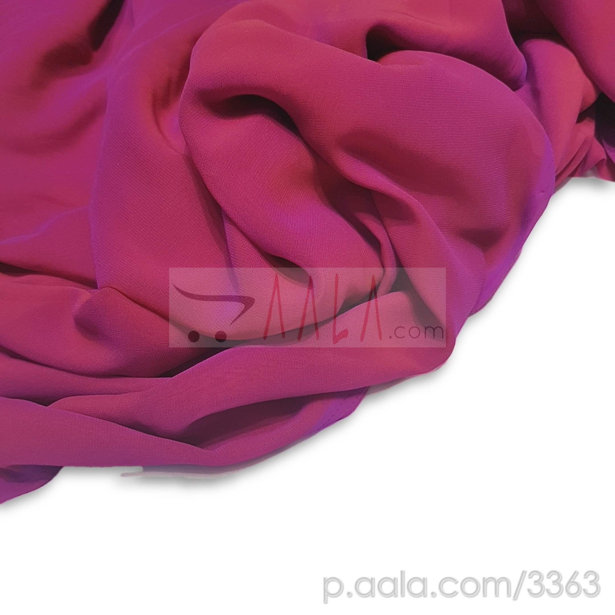 PT Tone Georgette Poly-ester 44 Inches Dyed Per Metre #3363