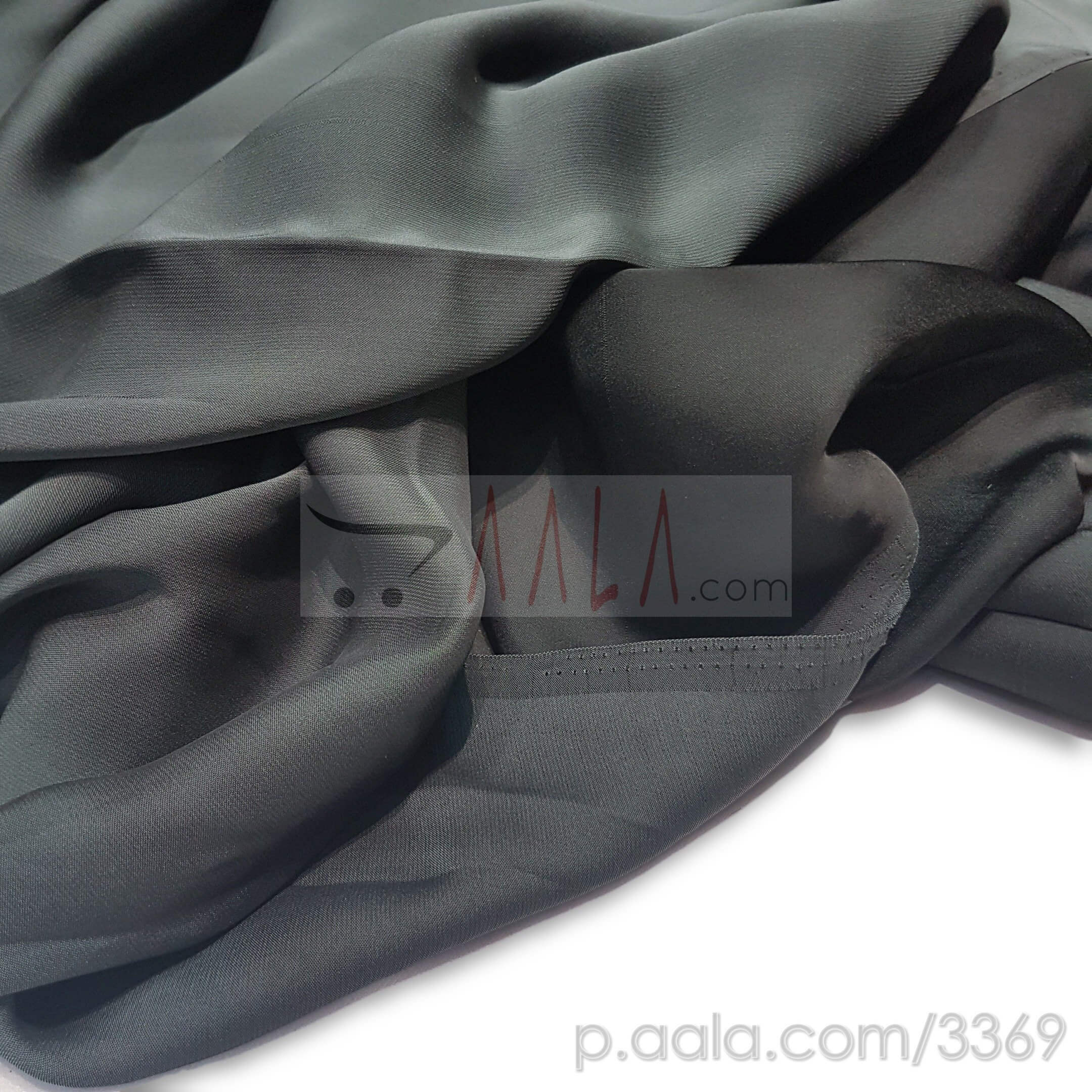 Metallic Satin Georgette Poly-ester 44 Inches Dyed Per Metre #3369