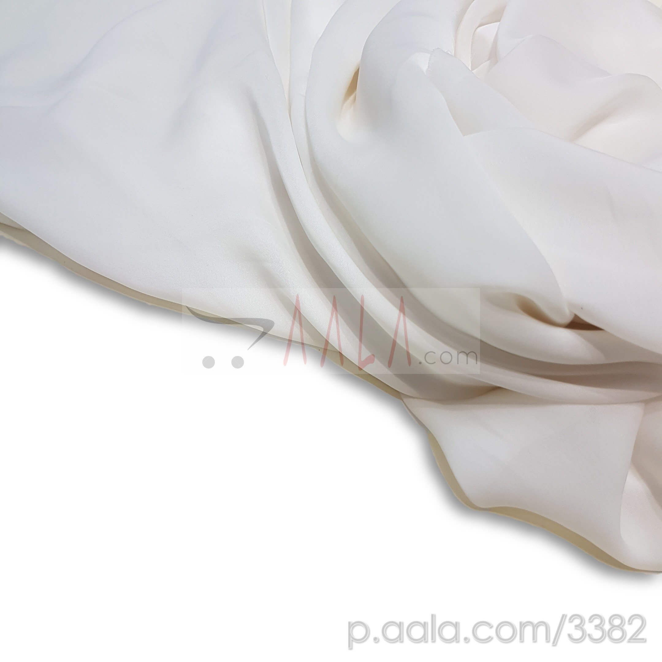 Kareena Satin Georgette Poly-ester 44 Inches Dyed Per Metre #3382