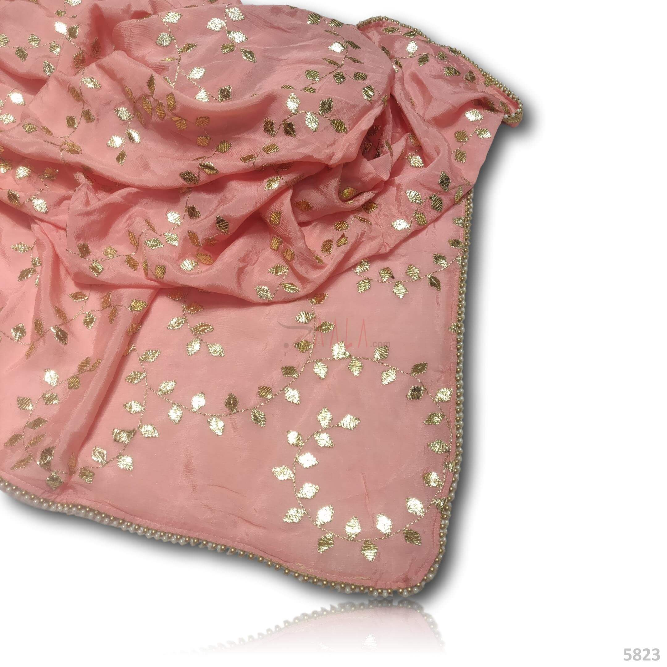Embroidered Chinon Dupatta 44 Inches Dyed 2.50 Metres #5823