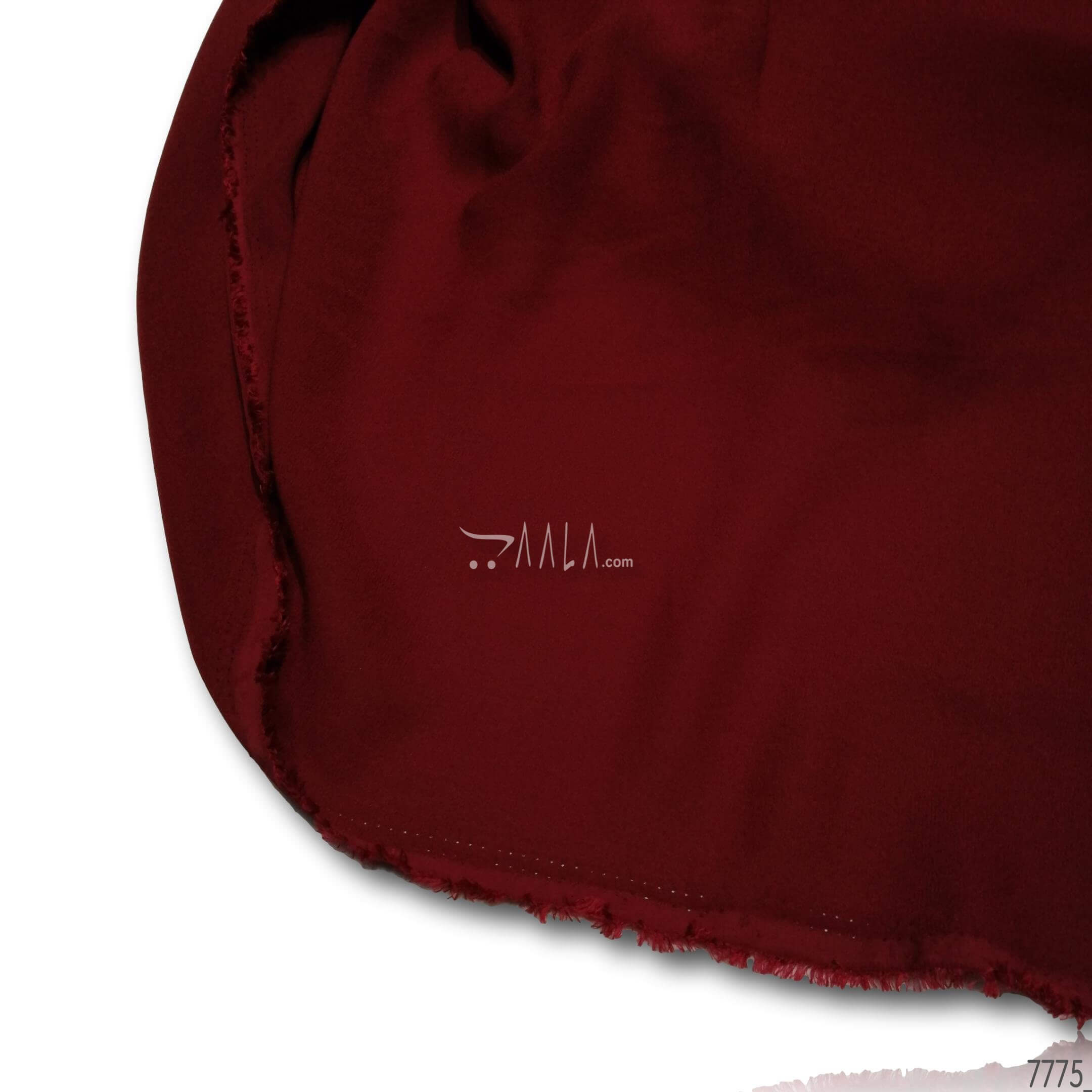 Blossom Double-Georgette Poly-ester 58-Inches MAROON Per-Metre #7775