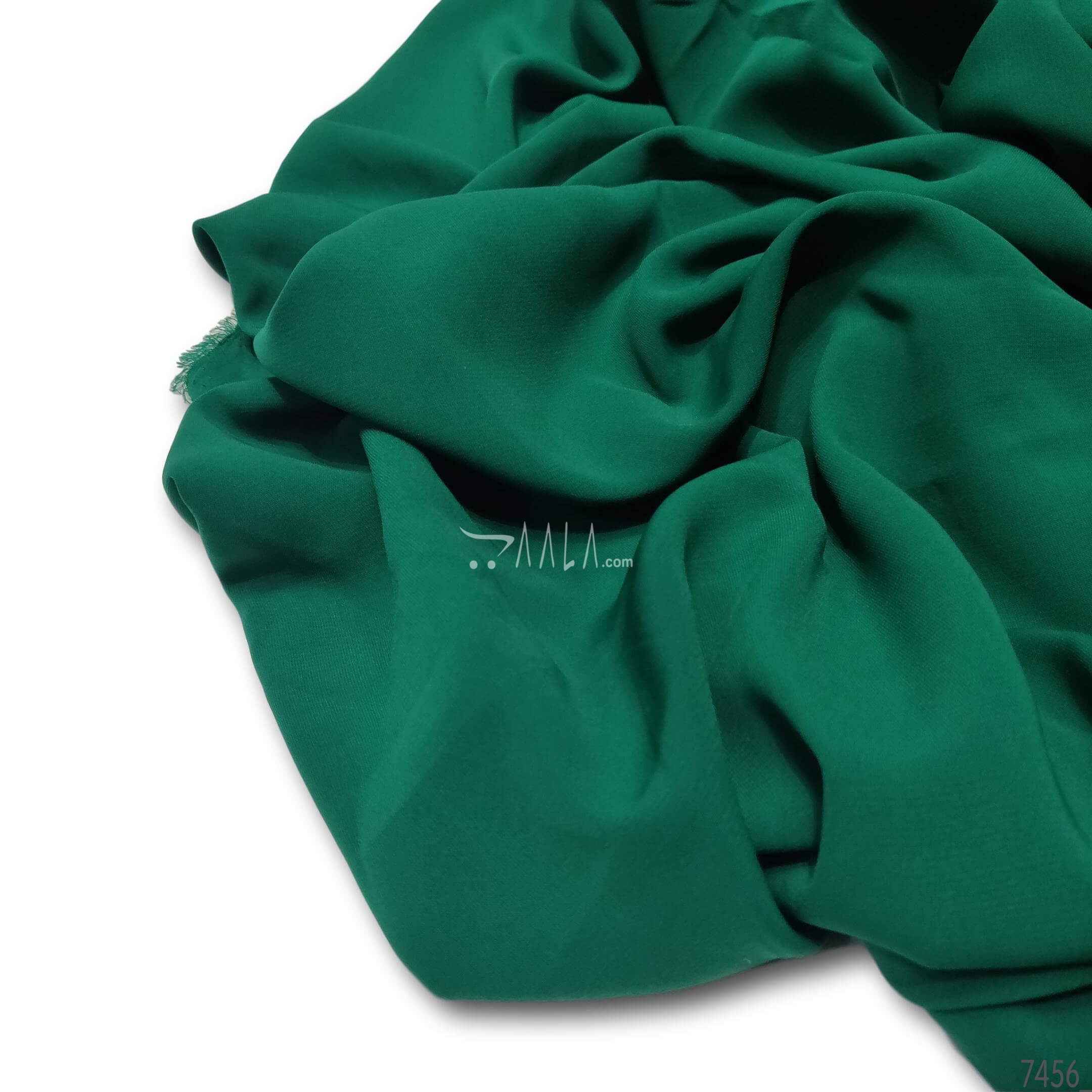 Daneen Double-Georgette Poly-ester 44-Inches GREEN Per-Metre #7456