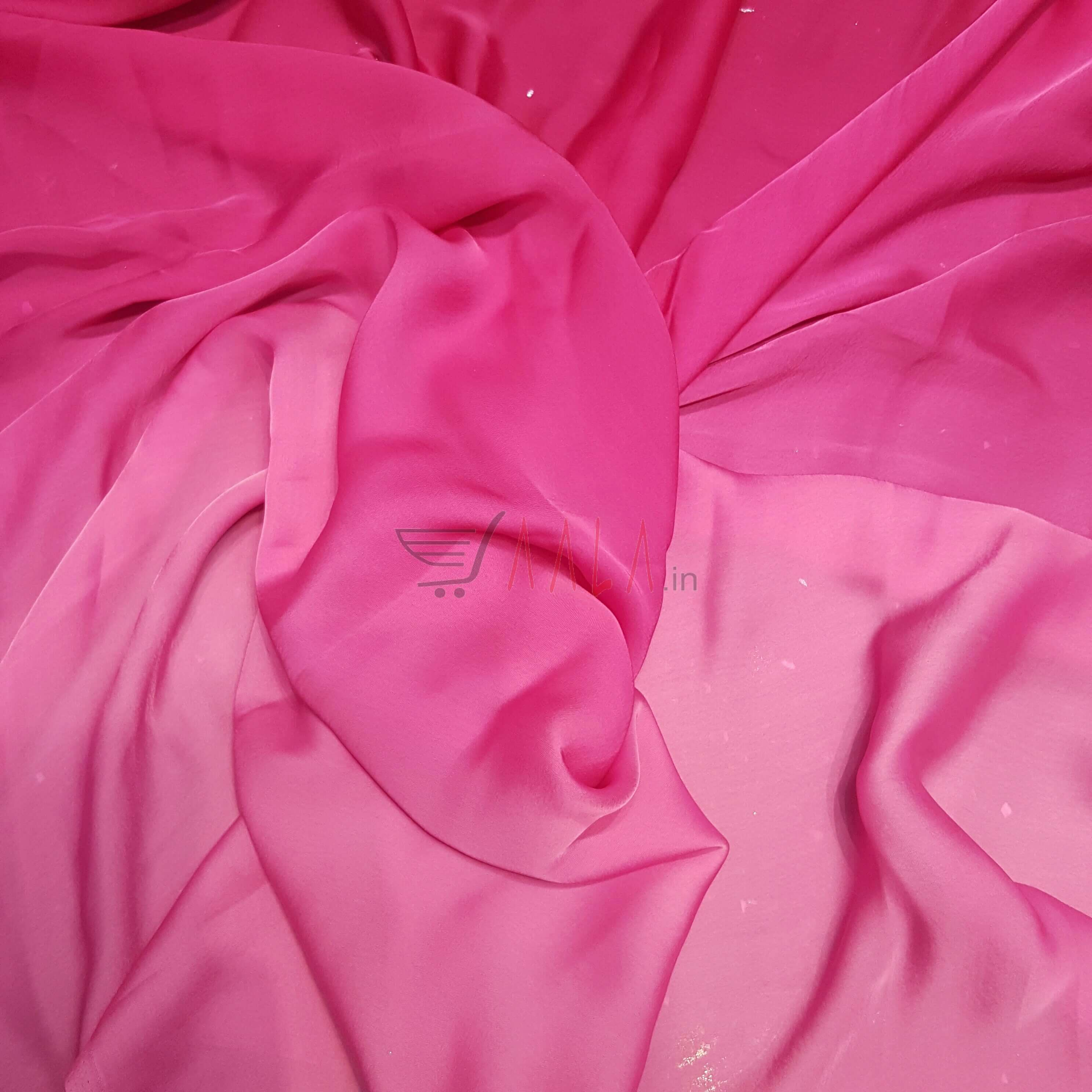 Shaded Satin Georgette Poly-ester 44 Inches Dyed Per Metre #2054