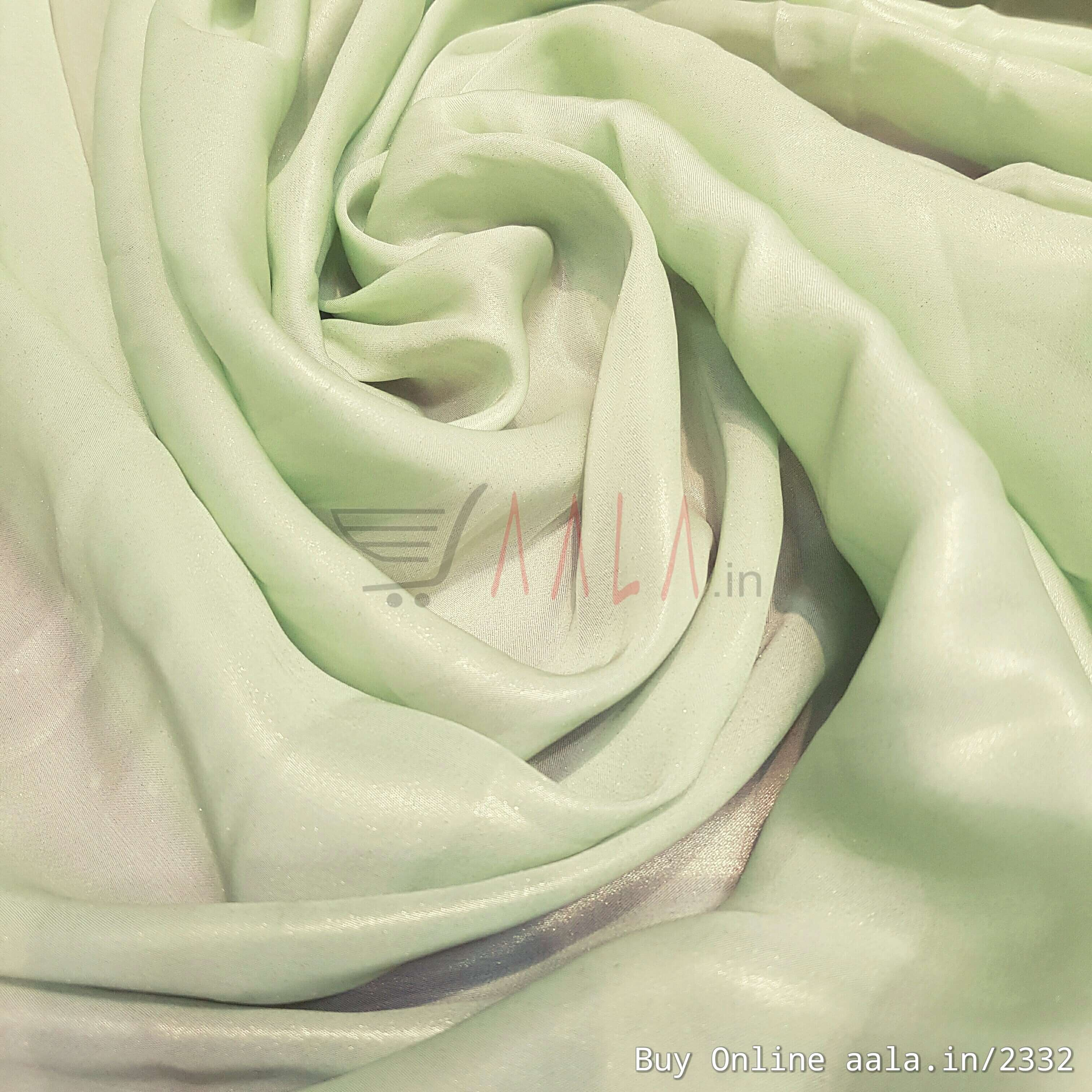 Half Coating Satin Georgette Poly-ester 44 Inches Dyed Per Metre #2332